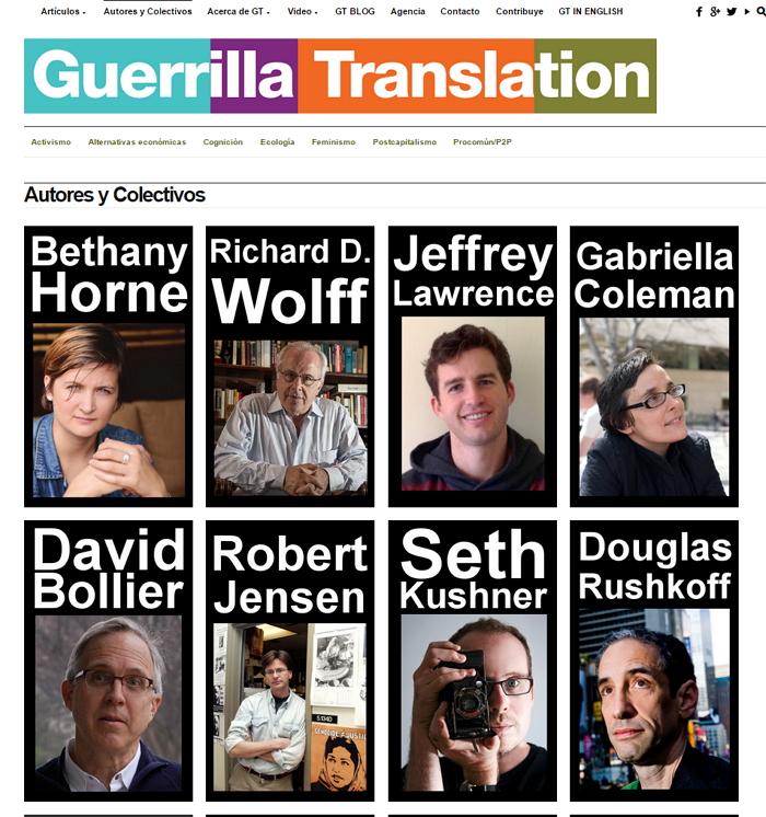 Nuestra página de autores y colectivos